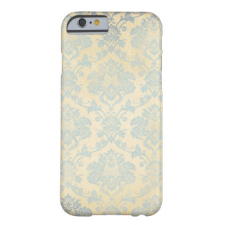 Vintage Blue Damask Barely There iPhone 6 Case