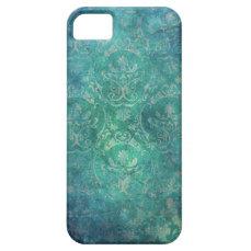Vintage Blue Damask iPhone 5s Case