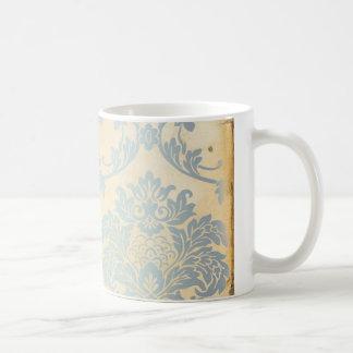 Vintage Blue Damask Mug