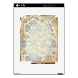 Vintage Blue Damask iPad 2 Decal