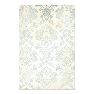 Vintage Blue Damask Stationery