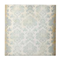 Vintage Blue Damask Tile