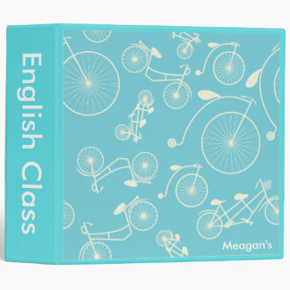 Vintage Blue Day in the Park Bicycle Binder