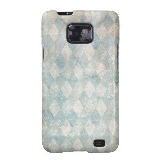 Vintage Blue Diamond Grunge Samsung Galaxy S Case