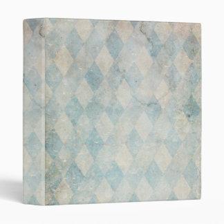 Vintage Blue Diamonds Textile Grunge Binder
