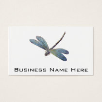 Vintage Blue Dragonfly Business Card