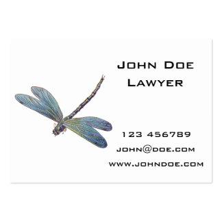 Vintage Blue Dragonfly Large Business Cards (Pack Of 100)