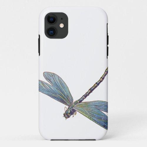Vintage Blue Dragonfly Phone Case