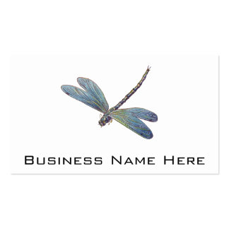 Vintage Blue Dragonfly Double-Sided Standard Business Cards (Pack Of 100)