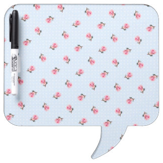 Vintage blue floral and dots Dry-Erase board
