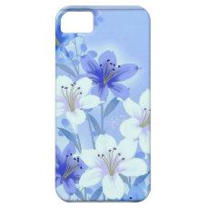 Vintage Blue Floral iphone case 5 - 5s