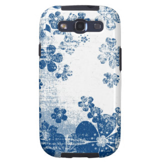Vintage blue floral pattern galaxy s3 cover
