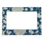 Vintage Blue Floral Pattern Magnetic Photo Frame