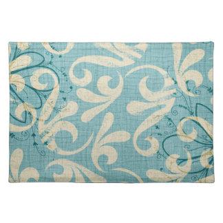 Vintage Blue Floral Placemat