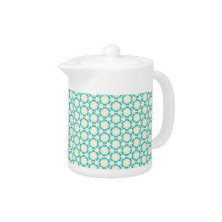 Vintage Blue Floral Teapot