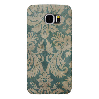 Vintage Blue Floral Wallpaper Samsung Galaxy S6 Case