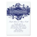 VINTAGE BLUE FLORAL WEDDING REHEARSAL DINNER CARD ANNOUNCEMENTS