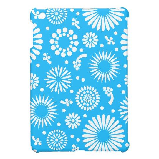 Vintage blue flowers iPad mini cases