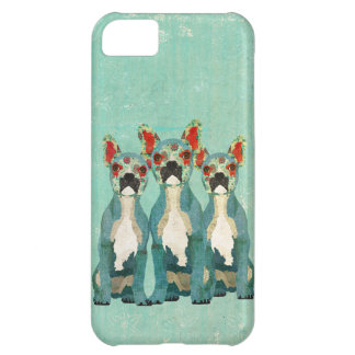 Vintage Blue French Bulldogs iPhone Case Case For iPhone 5C