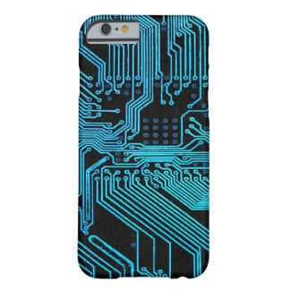 Vintage Blue Ghost Grunge Circuit Board Barely There iPhone 6 Case