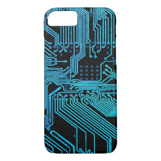 Vintage Blue Ghost Grunge Circuit Board iPhone 8/7 Case