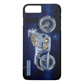 Vintage Blue Golden Sparkling Chrome Chopper iPhone 8 Plus/7 Plus Case