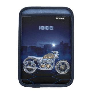 Vintage Blue Golden Sparkling Chrome Chopper Sleeve For iPad Mini