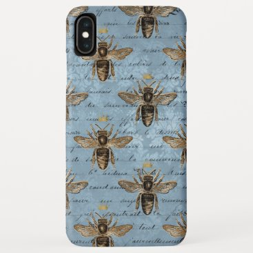 Vintage Blue Honey Bee iPhone XS Max Case