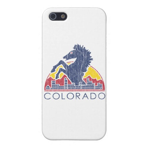 Vintage Blue Horse Colorado Logo Case For iPhone 5/5S