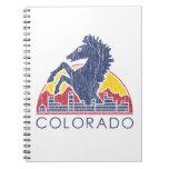 Vintage Blue Horse Colorado Logo Spiral Notebook