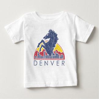 Vintage Blue Horse Denver Baby T-Shirt