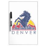 Vintage Blue Horse Denver Dry Erase White Board