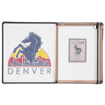 Vintage Blue Horse Denver Logo Cover For iPad
