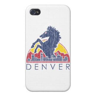 Vintage Blue Horse Denver Logo iPhone 4 Cover