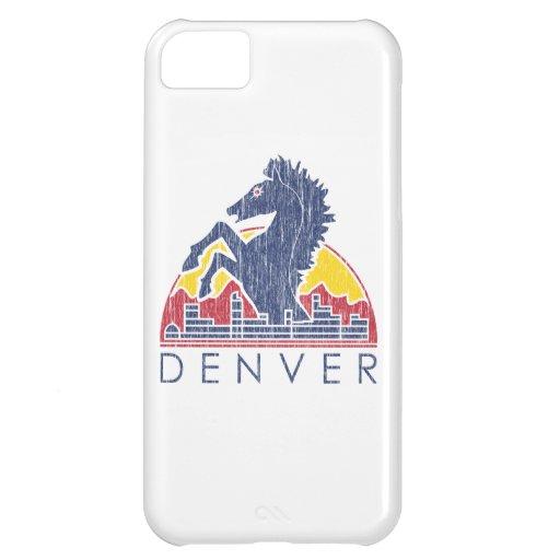 Vintage Blue Horse Denver Logo iPhone 5C Case