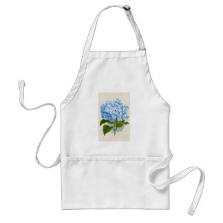 Vintage Blue Hydrangea Adult Apron