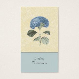Vintage Blue Hydrangea Botanical Floral Business Card