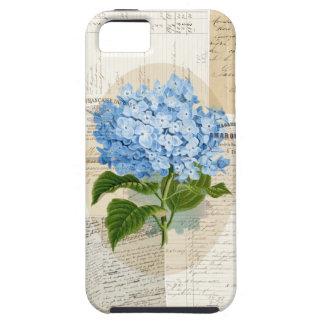 Vintage Blue Hydrangea French Ephemera Case iPhone 5 Cases