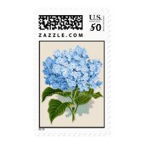 Vintage Blue Hydrangea Postage
