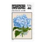 Vintage Blue Hydrangea Postage Stamps