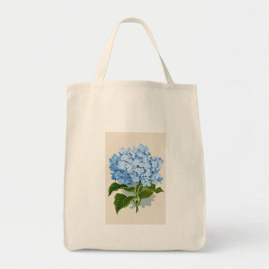Vintage Blue Hydrangea Tote Bag