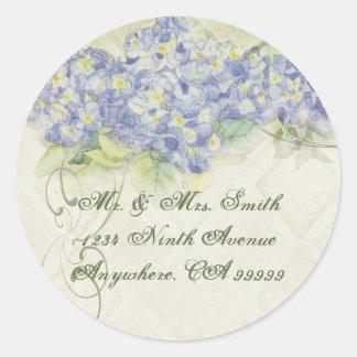 Vintage Blue Hydrangea - Wedding Seal Stickers