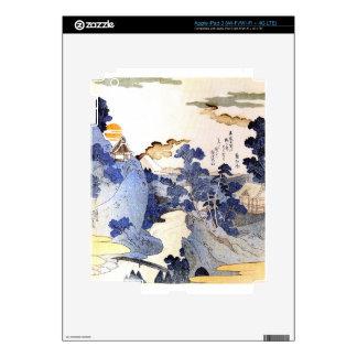 Vintage Blue Japanese Art Skin For iPad 3