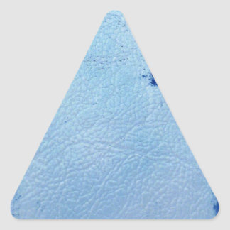 Vintage Blue Leather Triangle Sticker