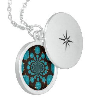 Vintage Blue Lights latest ornament Sterling Silver Necklace