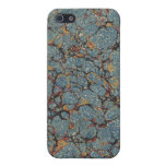 Vintage Blue Marbled Texture iPhone 4/4S Case