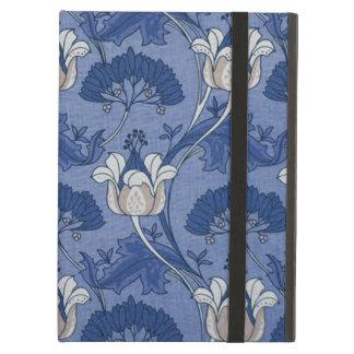 Vintage Blue Marigold Flower Pattern iPad Covers