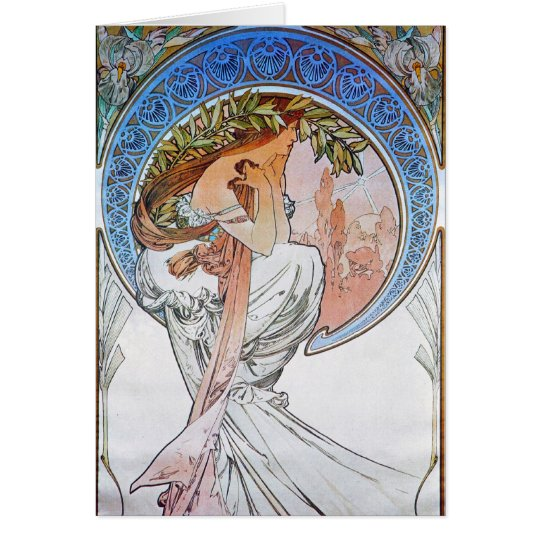 Vintage Blue Moon Goddess Card