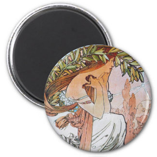 Vintage Blue Moon Goddess Fridge Magnet