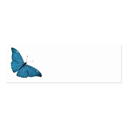 Vintage Blue Morpho Butterfly Customized Template Business Card Templates